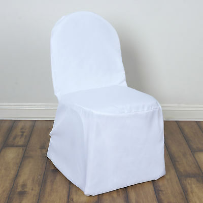 100 pcs White POLYESTER BANQUET CHAIR COVERS Wedding Reception Party Decorations](Wedding Reception Decoration)