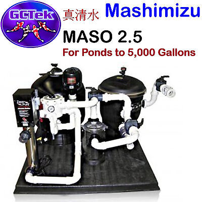 GC Tek Mashimizu 2.5 AlphaOne System for Ponds To 5,000 Gallons 125 Fish Load