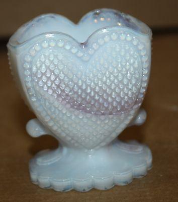 Boyd ~ Heart Toothpick Holder ~ Opalescent Purple