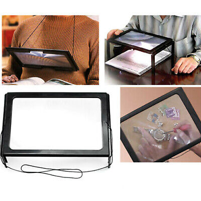 GIANT LARGE HANDS FREE MAGNIFYING GLASS WITH LIGHT LED MAGNIFIER FOR READING AID