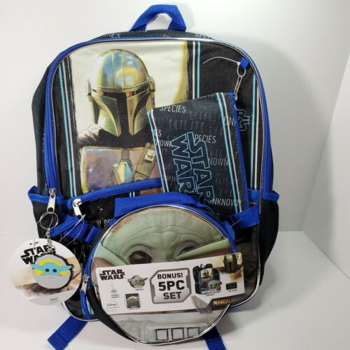 Star Wars The Mandalorian 5 Pc Set The Child Lunchbox Backpack New with Tags