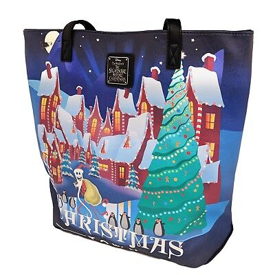 Loungefly Nightmare Before Christmas Halloween Xmas Town Tote Bag NEW IN STOCK](Halloween Town Nightmare Before Christmas)