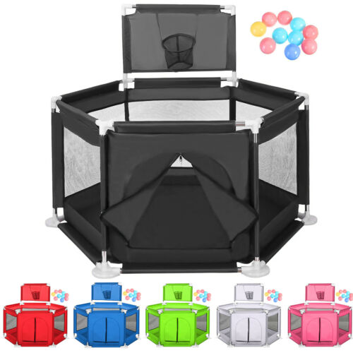 Foldable Baby Playpen Fence Kids Safety Activity Center Play
