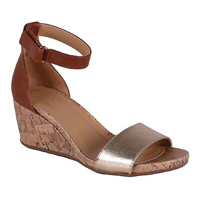 Women's Naturalizer AREDA G1779S3201 Gold/Brown Wedge Dress Sandal Shoes