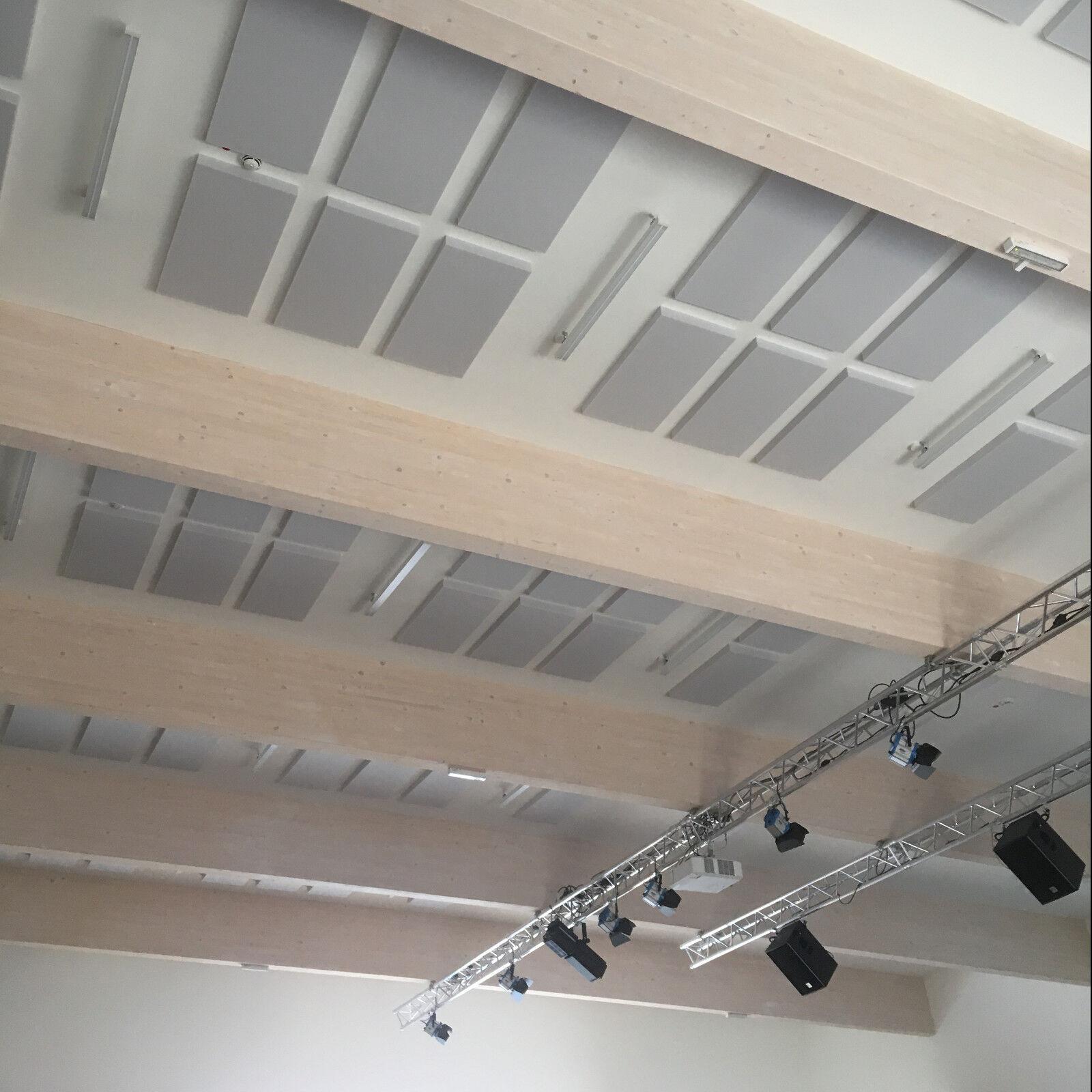 4x tonstudio schall akustik absorber d mmung 100x50x10 aus basotect g hellgrau eur 169 90. Black Bedroom Furniture Sets. Home Design Ideas