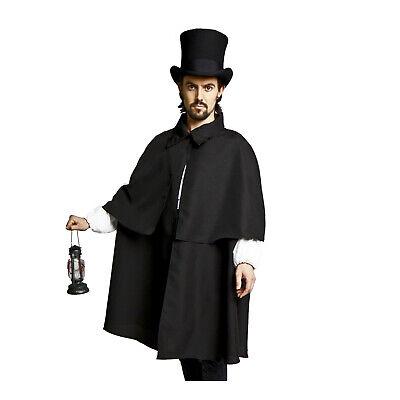 Sherlock Holmes Cape (Adult Men's Victorian Dickens Style Sherlock Holmes Halloween Costume Cloak)