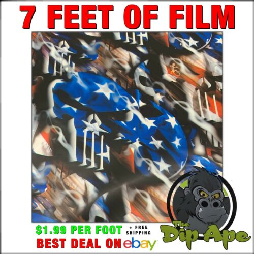 HYDROGRAPHIC FILM AMERICAN PUNISHER 7 feet of film hydro dip dipping DIP APE