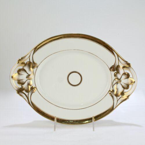 Antique Gilt Old Paris or Vieux Paris Porcelain Tray or Small Platter - PC