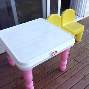 Kids Table/ 2 Chairs Great Sturdy Condition ......$10 No hold