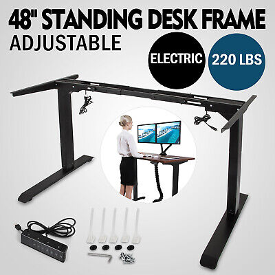 Electric Stand Up Desk Frame Wdual Motor Height Adjustable Standing Base New