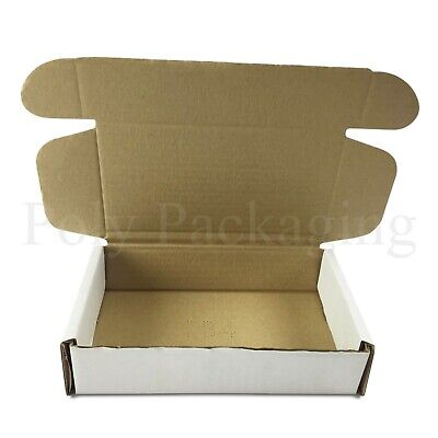 20 x WHITE Posting Boxes 200x120x50mm(8x5x2