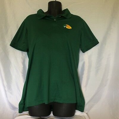 Women's Bass Pro Shops Employee Embroidered Polo Shirt Size L VGUC Green ()