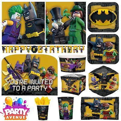 Lego Batman Party DC Childrens Birthday Party Celebration Balloons Tableware