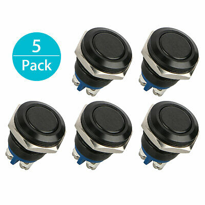 16mm 58 Metal Momentary Car Push Button Switch 3a250v Ac Spst 1no Industrial