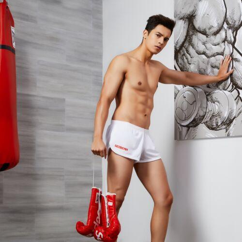 Seobean Low Rise Sports Soft Running Training Gym Short Pants For Men