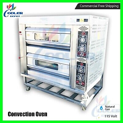 Pizza Stone Oven Commercial Dual Double Pizzeria Appetizer Cooker Gas Propane
