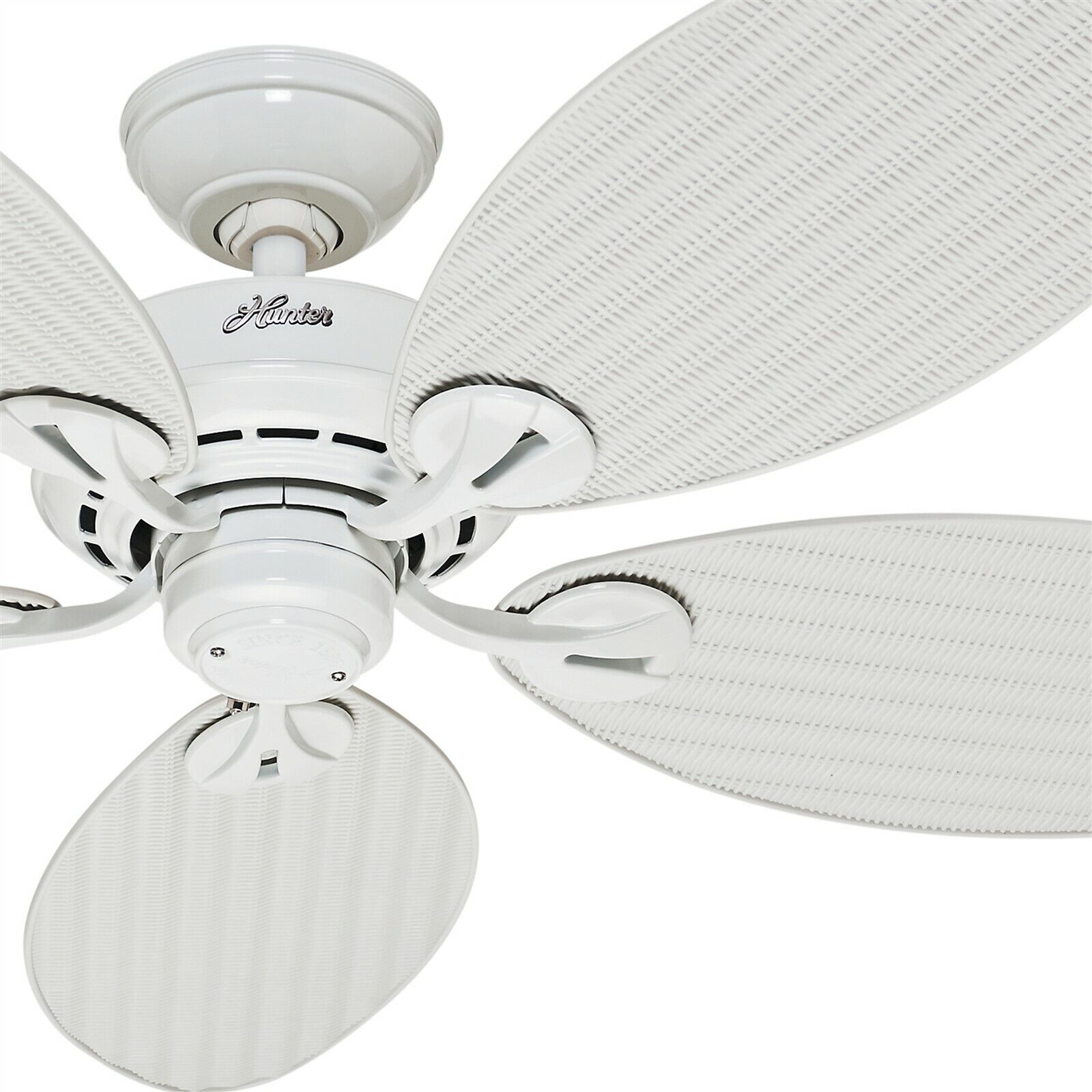 Outdoor Tropical Ceiling Fan In White