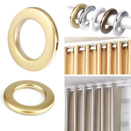 20pz. Anello Anelli Tondo Per Tende Bastoni Tendaggi Plastica Occhielli Dia.35mm
