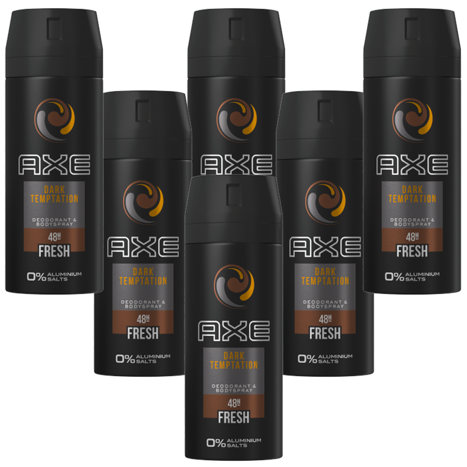 Deo Axe Dark Temptation 6 x 150ml Deospray Deodorant Bodyspray ohne Aluminium
