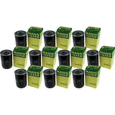 10x MANN-FILTER Filtro de Aceite W 940/5 Oil Filtro