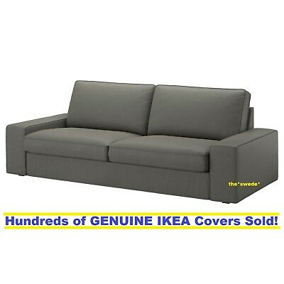 Ikea Kivik Sofa  3 Seat 89 75   Cover Slipcover Borred Gray Green New Sealed