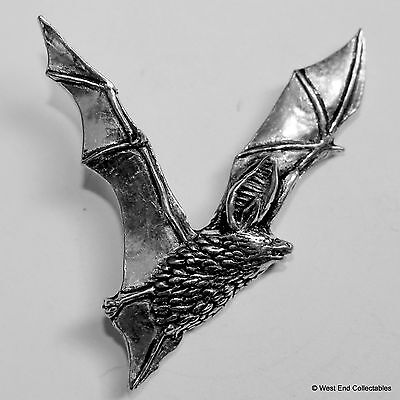 Rising Bat Pewter Pin Brooch -British Hand Crafted- Long Eared Vampire Halloween](Halloween Pins Craft)