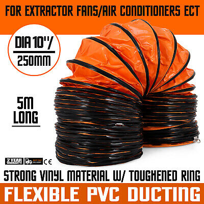 16lx10 Air Duct Ventilation Hose Pvc Coated Flexible Polyester Pipe
