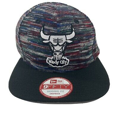 Chicago Bulls Windy City Hat Black and Red - New Era Snapback Team Craze Jordan