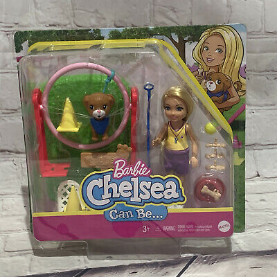 Brand New! Barbie Chelsea Can Be Blonde Chelsea Dog trainer!Doll christmas gift