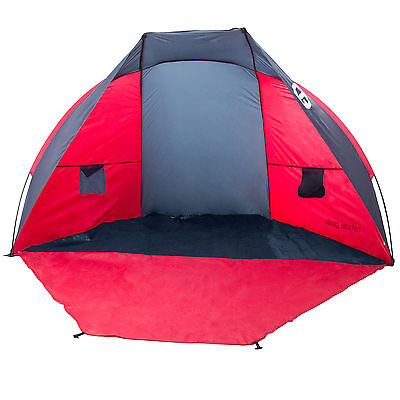 Tahoe Gear Cruz Bay Summer Sun Shelter and Beach Shade Tent Canopy, Coral Red