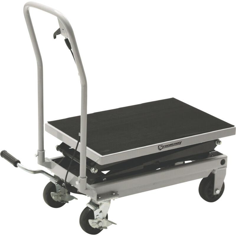 Strongway 2-Speed Hydraulic Rapid Lift XT Table Cart- 500-Lb. Capacity