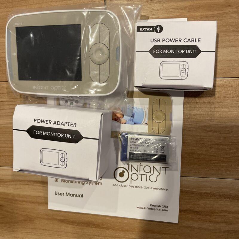 Infant Optics DXR-8 Baby Monitor ONLY w/AC USB cord Battery No Box Fast Ship