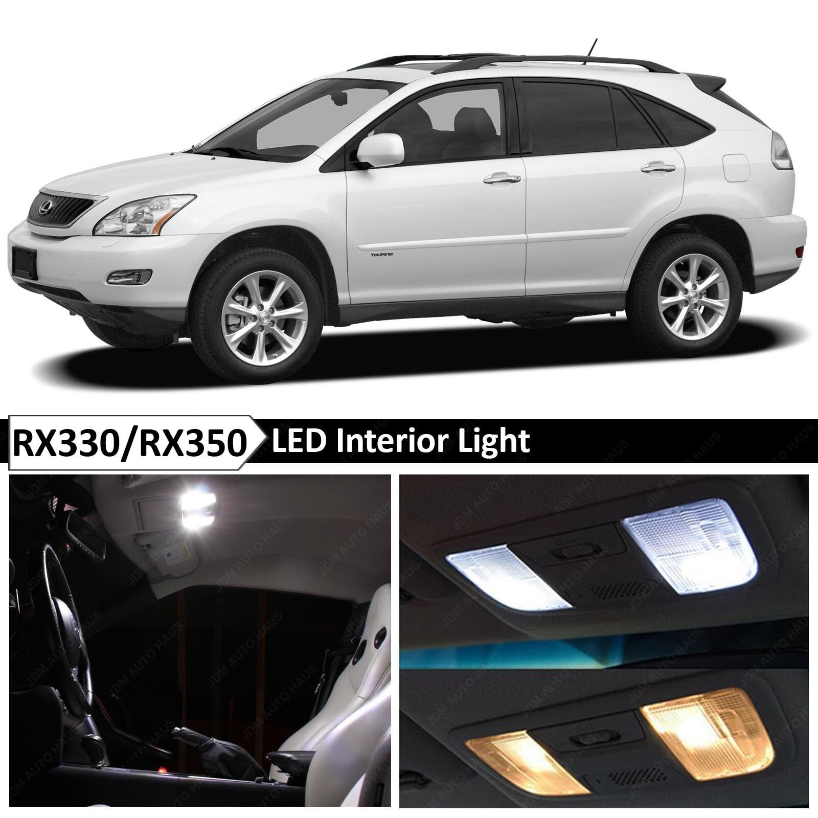 20x White Interior LED Light Package Kit 2004-2009 Lexus