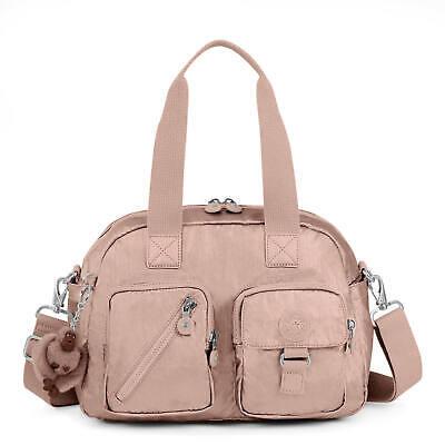 Kipling Defea Metallic Handbag Rose Gold Metallic