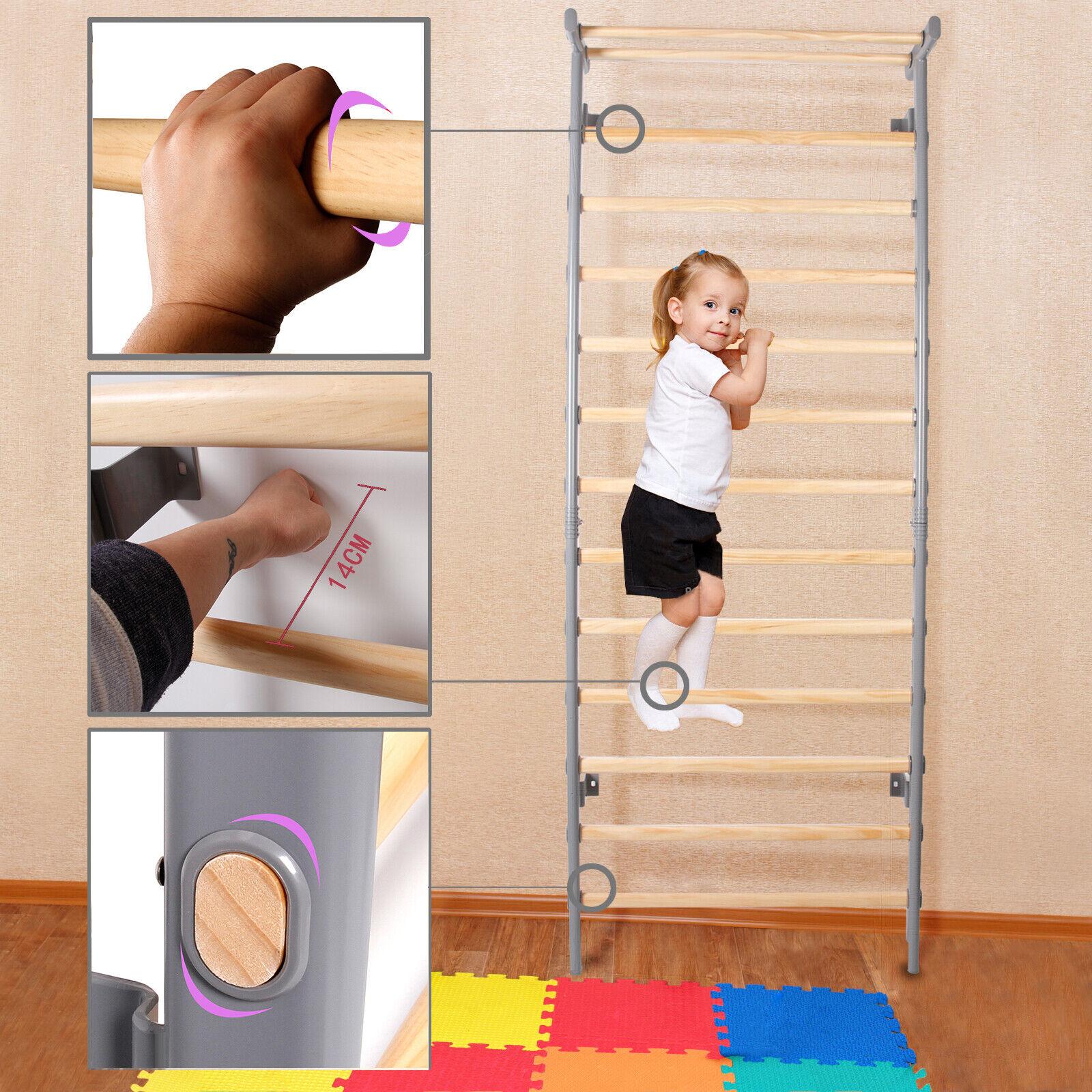 Kletterwand Turnwand Sport Sprossenwand Spielcenter Holz Kind Klettergerüst Baby