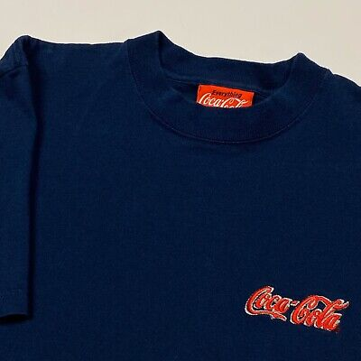 Vintage Coca Cola T Shirt Adult Medium Navy Blue Soda Enjoy Coke