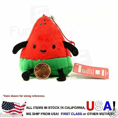 Watermelon - Cotton Foods smart phone anti dust plug plush charm screen wipe