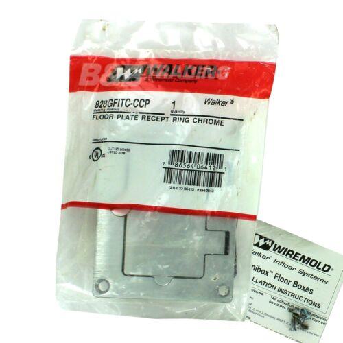 WALKER® Receptacle GFI Receptacle Floor Box  828GFIT-CCP Brushed Chrome