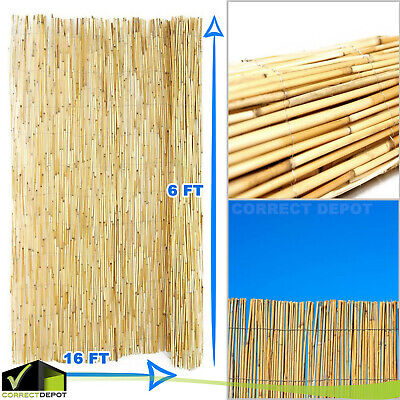 Bamboo Fence (6x16' Backyard BAMBOO Reed FENCE Tiki Bar Privacy Screen Outdoor Lawn)