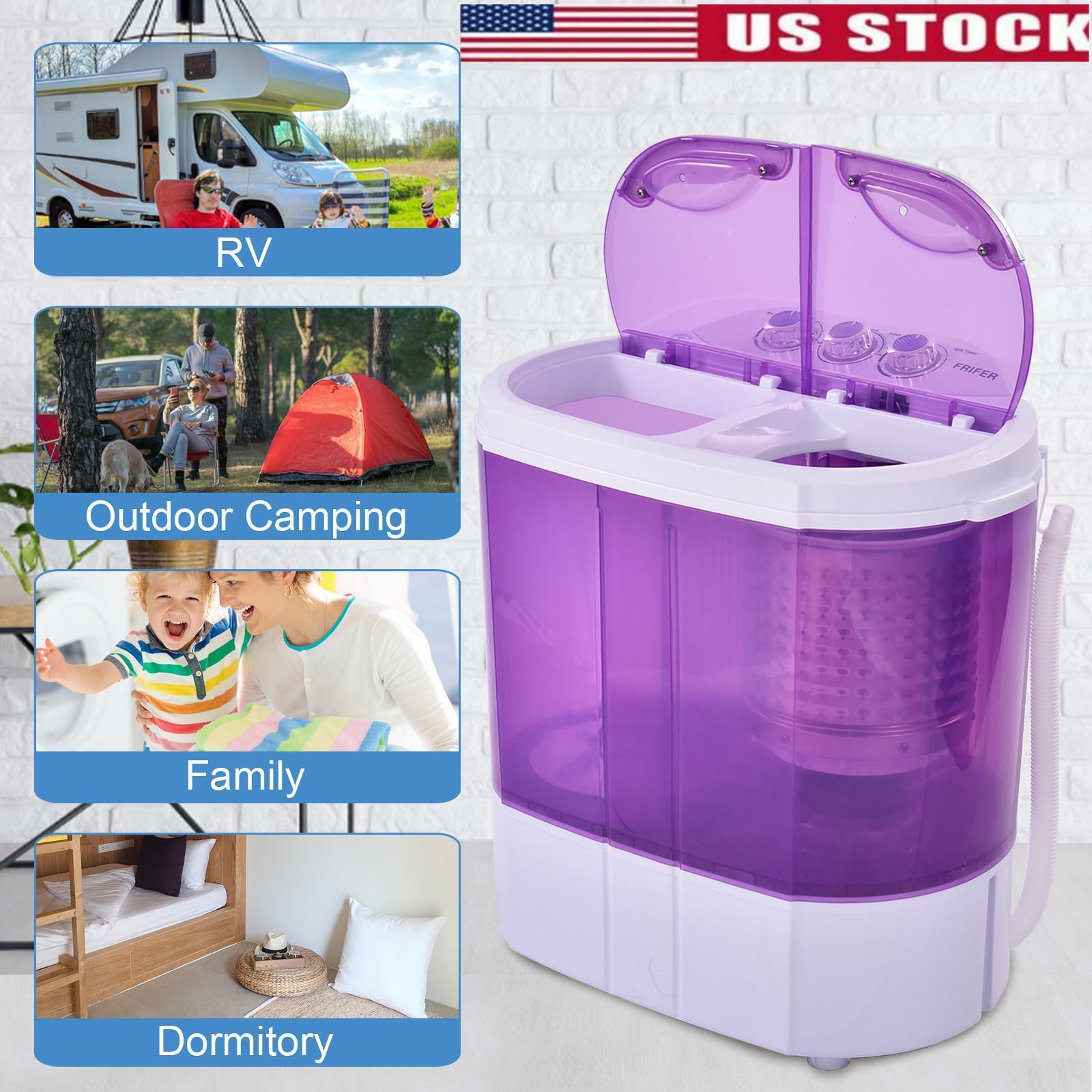 10lbs Portable Washing Machine Compact Mini Washer Wash Spin