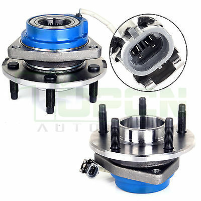 Front Wheel Hub & Bearing Assembly Pair Set of 2 NEW for Chevy Pontiac w/ABS