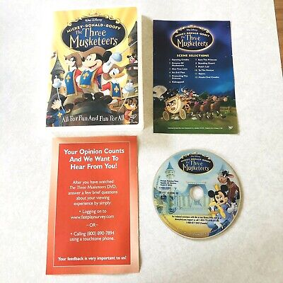 Walt Disney The Three Musketeers DVD Mickey Mouse Donald Duck Goofy Movie Mickey Mouse Musketeers