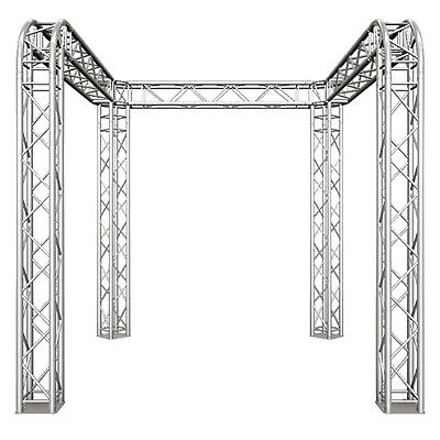 Global Truss Tb-10x10 U Shaped 10 Trade Show Booth With Round Corners F34-002