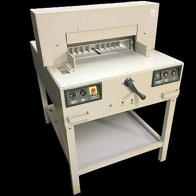 Nice Mbm Triumph Ideal 5250 A Industrial Paper Cutter Guillotine 115v 1ph