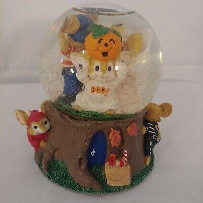 Forest Halloween Music (Vintage Halloween Snow Globe San Francisco Music Box Co Woodland Mice in)