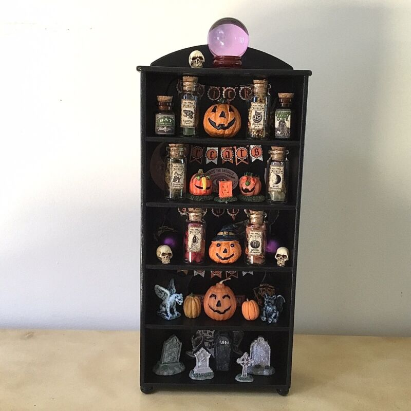 Halloween Lovers ~ Miniature 1:6 Treat! Black Hutch ~ LEMAX & Other Collectibles