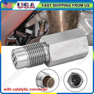 Oxygen O2 Sensor Spacer Adapter CEL Eliminator (mini Cat) W/ Catalytic Converter