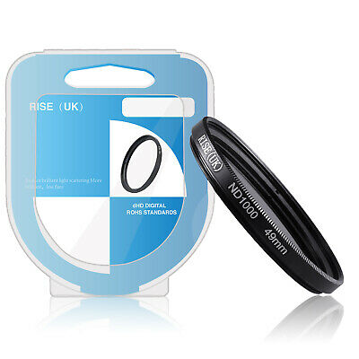 RISE(UK) 49MM Optical Neutral Density ND1000 Fiter for SLR DSLR Camera Lens+ (Optical Lenses Uk)