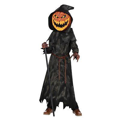 Jungen Erschreckend Zombie Jack O Laterne Kürbis-kostüm Kinder Jugend (Jugend Junge Halloween Kostüme)