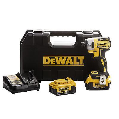 "DEWALT DCF887M2 20V MAX Li-Ion 4.0 Ah Brushless 0.25"" 3-Speed Impact Driver Kit"